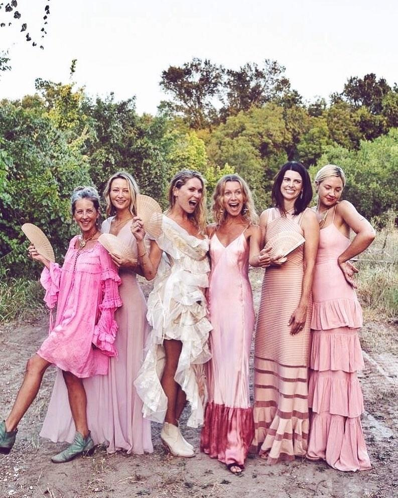 Erin Wasson and her pals, who all just so happened to wear pink, took over Austin on the day that the model wed her partner of two years, the restaurateur Bart Tassy, in some very ruffly Vivienne Westwood.