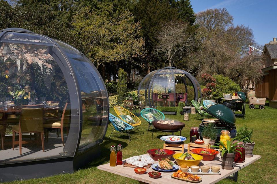 Barbecue domes at the Homewood in Freshford, England