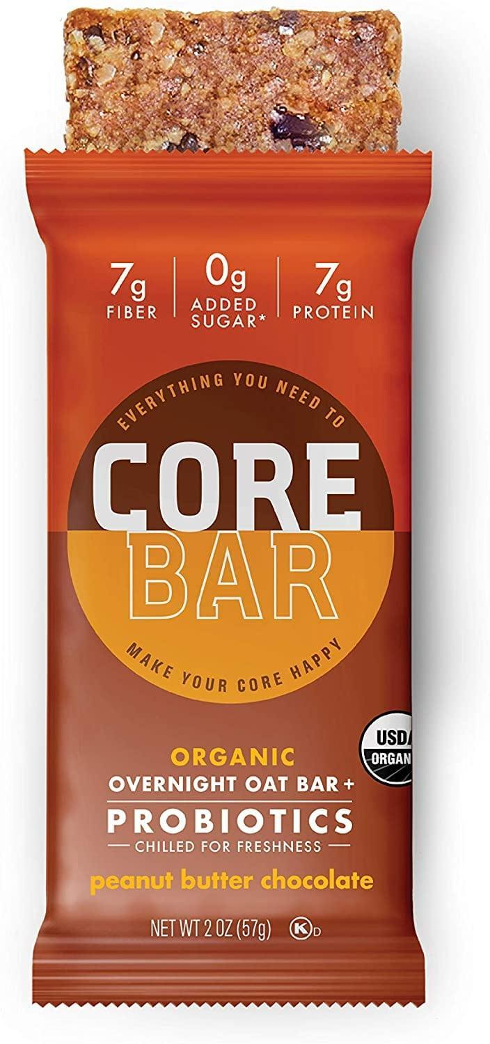 """<p>Bars can be a lifesaver on busy days, and these <span>Core Organic Overnight Oat Bars</span> ($48 for a pack of 16) are one of the healthier options on the market. They're made with ingredients like whole-grain oats, peanuts, and chia seeds. Plus, each bar contains prebiotics and live probiotics to support gut health. Those probiotics may just help with your weight, too. In one study, a supplement containing the probiotic found in these bars, along with other strains of good bacteria, helped <a href=""""https://pubmed.ncbi.nlm.nih.gov/31965834/"""" class=""""link rapid-noclick-resp"""" rel=""""nofollow noopener"""" target=""""_blank"""" data-ylk=""""slk:reduce body weight in those who were overweight"""">reduce body weight in those who were overweight</a>.</p>"""