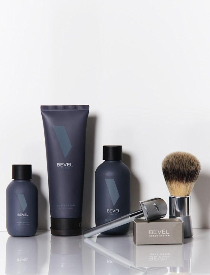 """<p><strong>shave</strong></p><p>getbevel.com</p><p><strong>$85.45</strong></p><p><a href=""""https://getbevel.com/shave-kit?gclid=Cj0KCQjww_f2BRC-ARIsAP3zarGjFp25SHTAFxZ7Bs5thlP8-Mugg9zzu_GBEZiXXy6pybiRb8GdN1kaAsxzEALw_wcB"""" rel=""""nofollow noopener"""" target=""""_blank"""" data-ylk=""""slk:BUY IT HERE"""" class=""""link rapid-noclick-resp"""">BUY IT HERE</a></p><p>To finally put a stop to ingrown hairs and skin irritation, a man needs the right shaving tools. Bevel's top-notch <a href=""""https://www.menshealth.com/grooming/g30120484/best-shaving-kits-for-men/"""" rel=""""nofollow noopener"""" target=""""_blank"""" data-ylk=""""slk:shave kit"""" class=""""link rapid-noclick-resp"""">shave kit</a> has everything he'll need from start-to-finish for the smoothest shave he never thought was possible. </p>"""