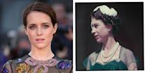<p><strong>Who plays Queen Elizabeth II in</strong><strong> The Crown seasons 1 and 2?</strong></p><p><strong>Claire Foy: </strong>Foy won a Golden Globe, Emmy and SAG award for being the first Queen in The Crown. Before this, the actor played the titular role in the BBC's Little Dorrit and Anne Boleyn in Wolf Hall.</p>