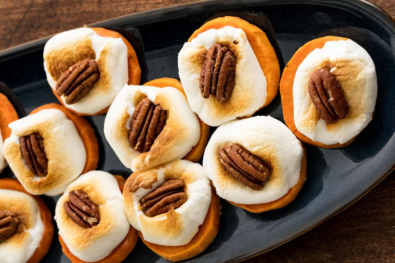 """<p>Store-bought party platter? Please. Come fall, we're breaking out the sweet potato, pumpkin, and brown sugar. Okay fine, and some veggies for good measure. For even more fall-friendly foods, check out our favorite <a target=""""_blank"""">autumn salads</a>!</p>"""