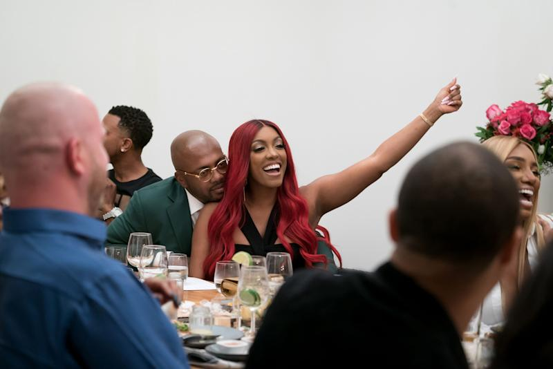 Porsha Williams and Dennis McKinley look amazing in this photo during a dinner date