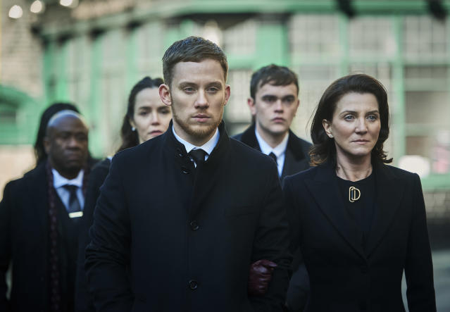 Joe Cole and Michelle Fairley star in new gangster drama 'Gangs of London'