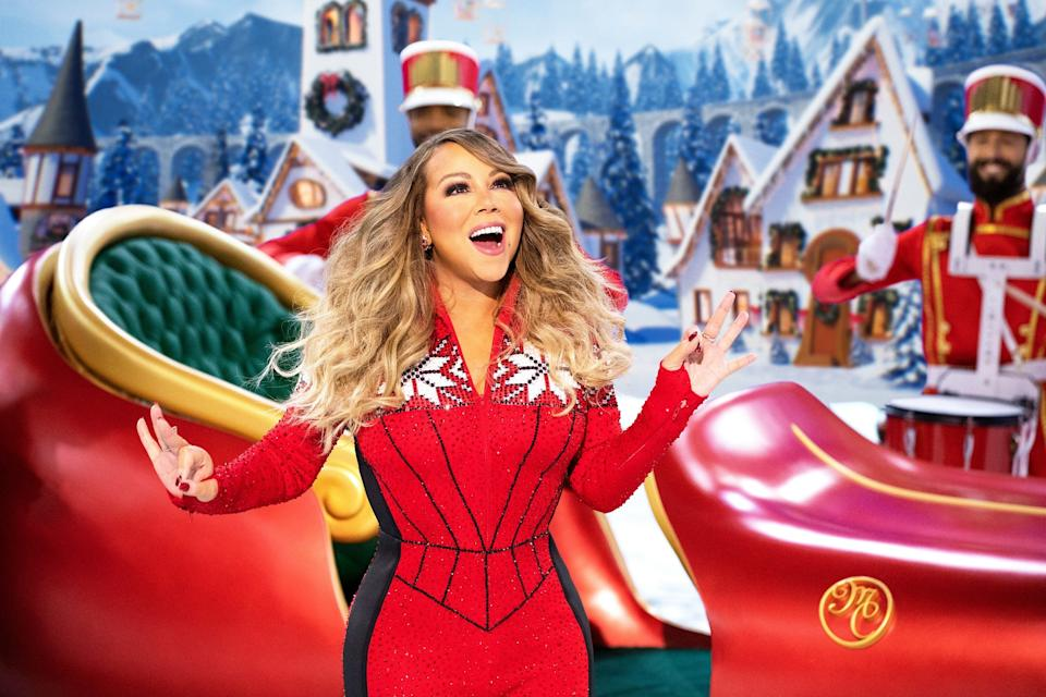 """Mariah Carey's Magical Christmas Special"" is now available to watch on streaming service Apple TV+."