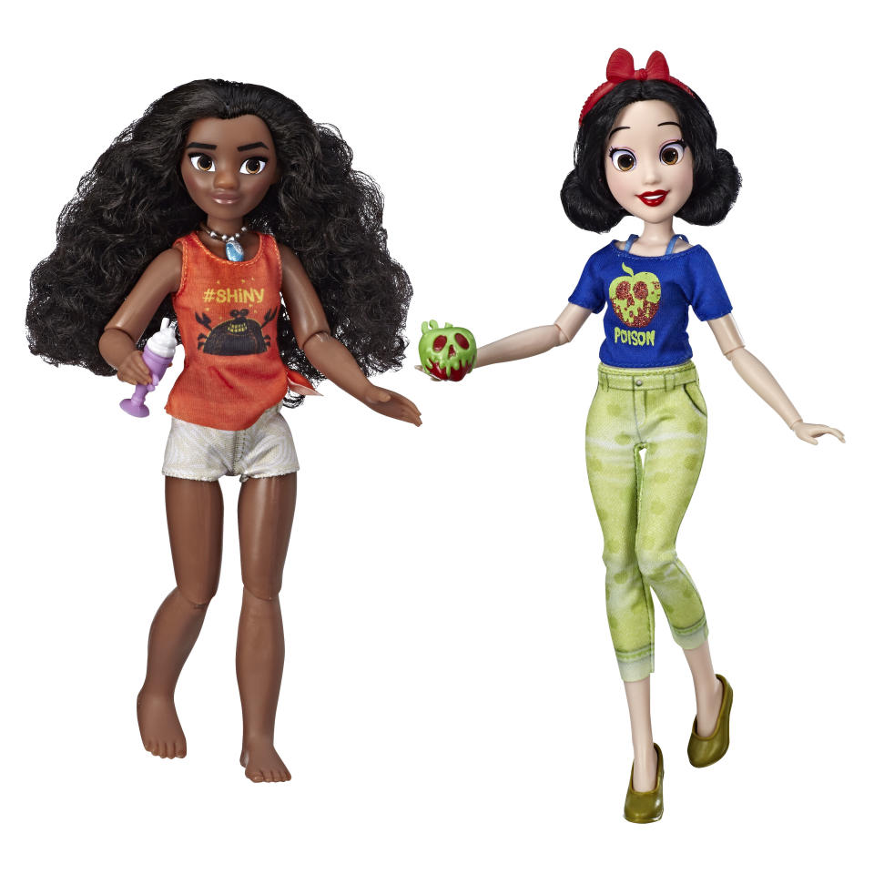 Moana and Snow White as they appear in <em>Ralph Breaks the Internet.</em> (Photo: Hasbro)