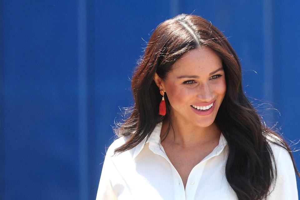 """<p>According to <em><a href=""""https://www.harpersbazaar.com/beauty/health/a19744913/meghan-markle-royal-wedding-diet-and-exercise/"""" rel=""""nofollow noopener"""" target=""""_blank"""" data-ylk=""""slk:Harper's Bazaar"""" class=""""link rapid-noclick-resp"""">Harper's Bazaar</a></em>, Meghan named her now-defunct lifestyle blog <em>The Tig</em> after her favorite brand of red wine, Tignanello. """"God, do I love wine; a beautiful full red or a crisp white. But if it's cocktails, I love a spicy tequila cocktail, negroni, or good scotch—neat,"""" she said<em>. </em>""""Do the things you enjoy within reason,"""" she says. """"Know your body and what works for you and you'll be fine.""""</p>"""