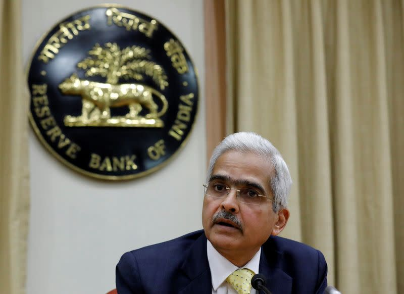Shaktikanta Das, the new Reserve Bank of India Governor, attends a news conference in Mumbai