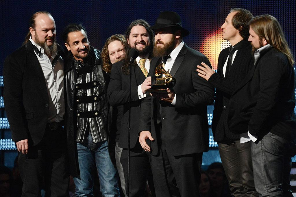 Zac Brown Band accepts the award for Best Country Album at the 55th Annual Grammy Awards at the Staples Center in Los Angeles, CA on February 10, 2013.