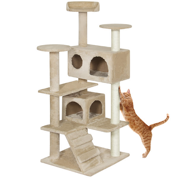 A climber to thrill your feline overlord—and save your furniture. (Photo: Walmart)