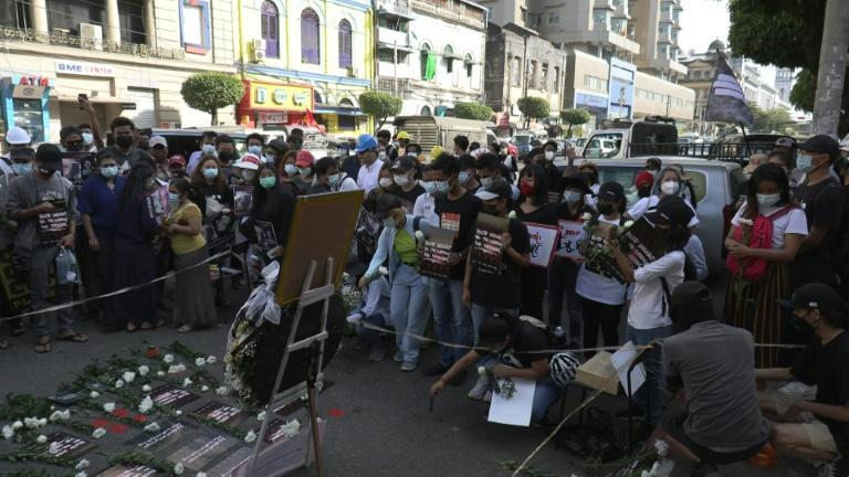 Yangon residents pray for recovery for woman shot at anti-coup protest