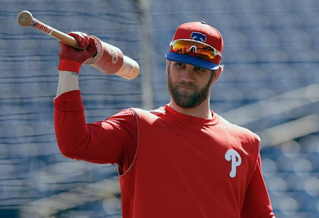 Expectations will be high for Bryce Harper in Philadelphia. (AP)