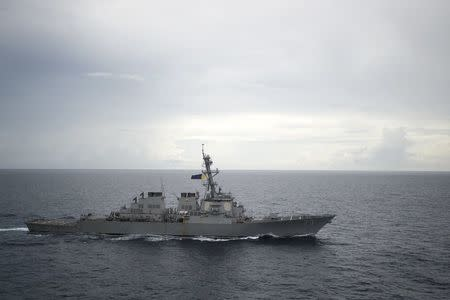 Guided-missile destroyer USS Decatur (DDG 73) operates in the South China Sea as part of the Bonhomme Richard Expeditionary Strike Group (ESG) in the South China Sea. Diana Quinlan/U.S. Navy/Handout via REUTERS