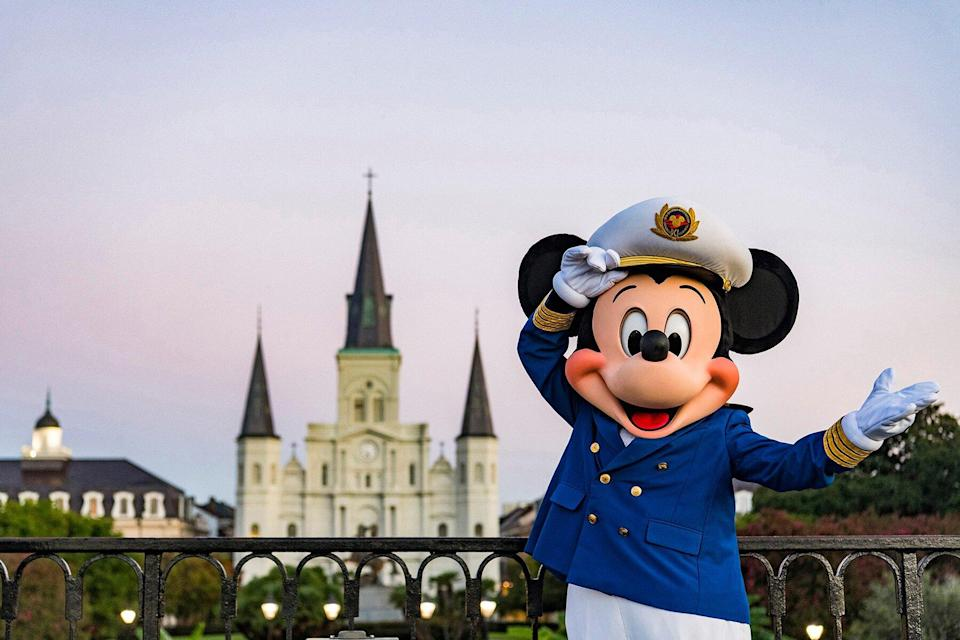 Mickey dressed for Disney Cruise Line