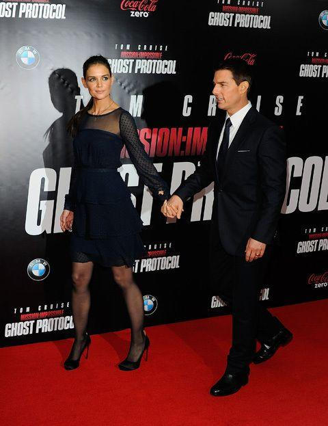 The pair at the 'Mission Impossible: Ghost Protocol' premiere last year. Credit: Getty Images