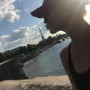 """<p>Kisses from Klossy! The model puckered up to the iconic sight in July. """"Paris je t'aime,"""" she captioned this selfie, snapped from afar. That is very clear. (Photo: <a rel=""""nofollow noopener"""" href=""""https://www.instagram.com/p/BWD6OoOlVyS/"""" target=""""_blank"""" data-ylk=""""slk:Karlie Kloss via Instagram"""" class=""""link rapid-noclick-resp"""">Karlie Kloss via Instagram</a>) </p>"""