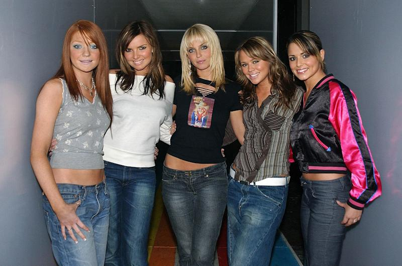 Pop band Girls Aloud during their guest appearance on MTV's TRL UK at the MTV Studios in Camden, north London.
