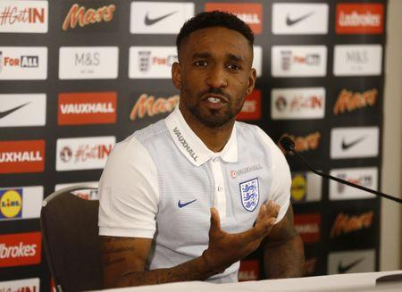 England's Jermain Defoe during the press conference