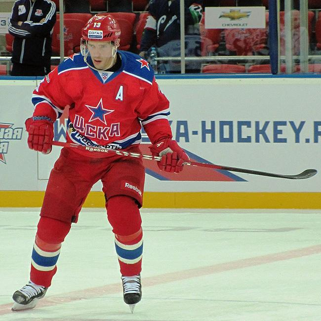 Pavel Datsyuk in action for CSKA Moscow. (#NickInEurope)