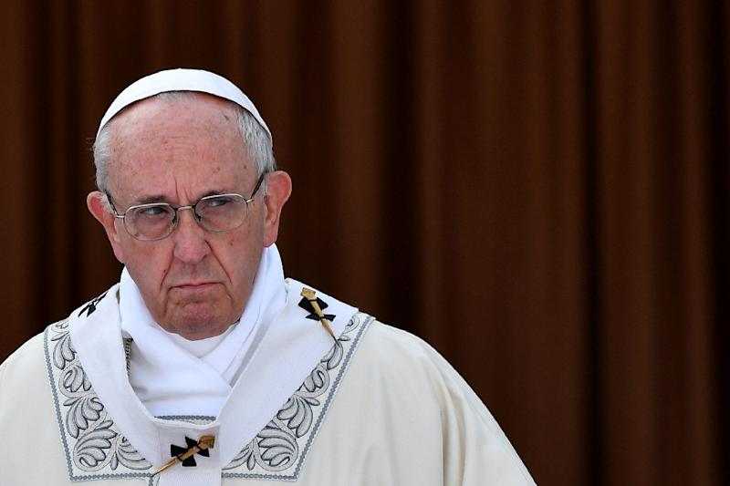 Pope Francis has apologised to the victims of sexual abuse by Chilean paedophile priests (AFP Photo/Alberto PIZZOLI)