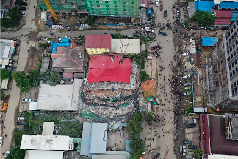 Cambodia Building Collapse Death Toll Rises to 24, 'No More Survivors' Say Authorities