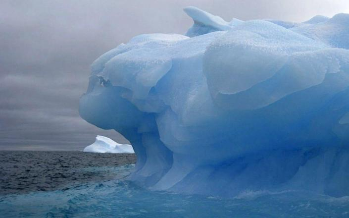 An iceberg, some way smaller than A-76, afloat in the Weddell Sea - EPA
