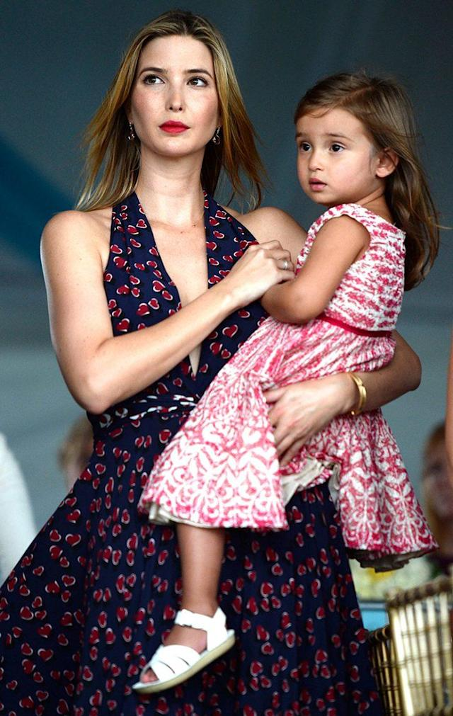 Ivanka Trump with 5-year-old daughter, Arabella Kushner. (Photo: Larry Marano/Getty Images for 2014 Trump Invitational Grand Prix)