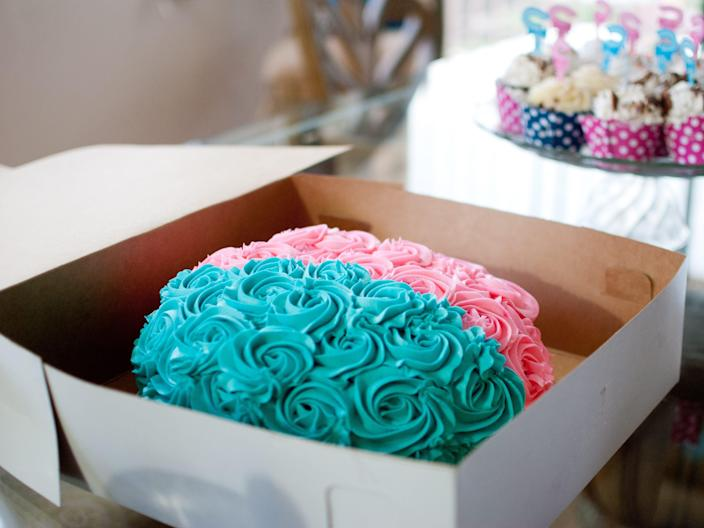Gender reveal cake. File photo.