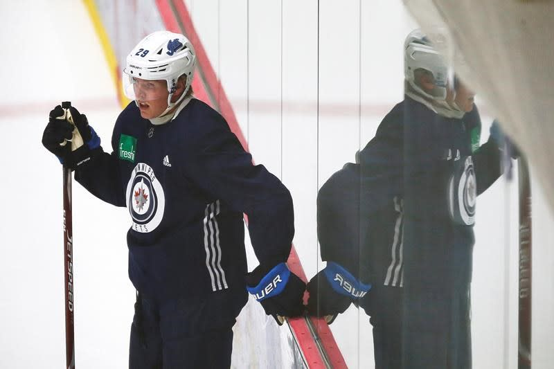 Jets sniper Patrik Laine working to get back up to speed after long layoff