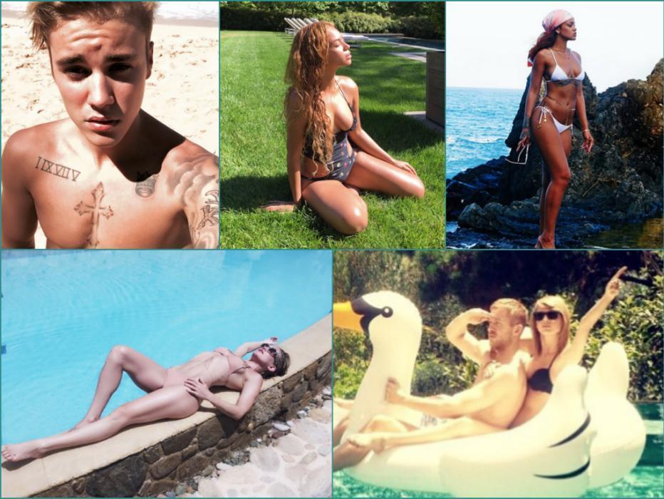 Bring on summer! Check out recent pics of Kate Hudson, Beyoncé, Justin Bieber, and other stars revealing their beach bods.