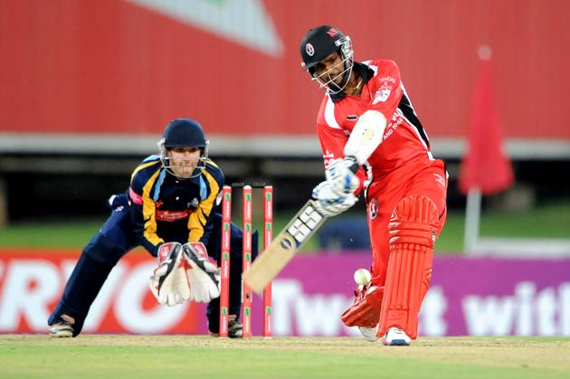 PRETORIA, SOUTH AFRICA - OCTOBER 10: Denesh Ramdin of Trinidad & Tobago bats during the Karbonn Smart CLT20 pre-tournament Qualifying Stage match between Yorkshire (England) and Trinidad and Tobago (West Indies) at SuperSport Park on October 10, 2012 in Pretoria, South Africa.  (Photo by Lee Warren / Gallo Images / Getty Images)