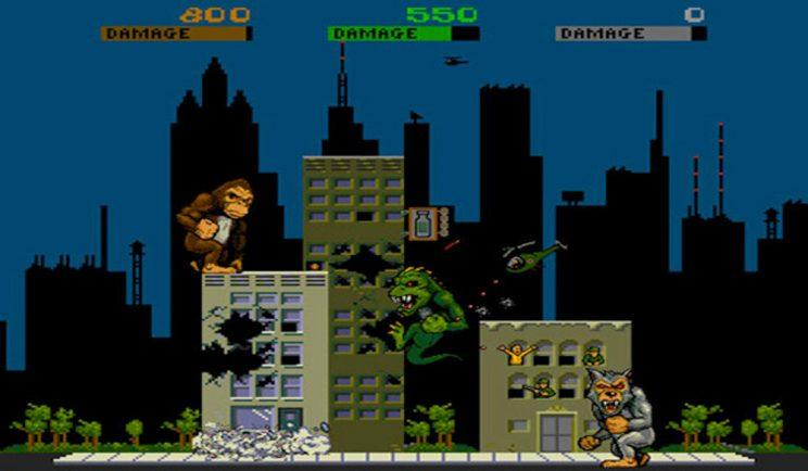 Video game classic, Rampage- Credit: Data East