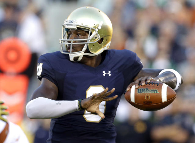After starting at Notre Dame, Malik Zaire now has a chance to lead Florida. (AP)