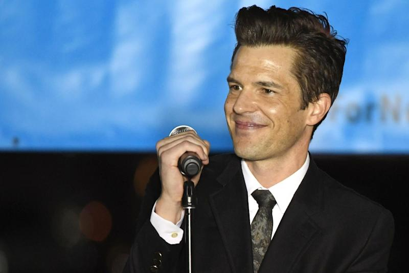 Brandon Flowers of The Killers performs on 2 November 2018 in Las Vegas, Nevada: Ethan Miller/Getty Images