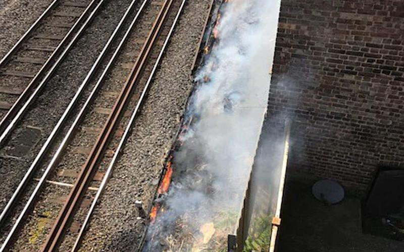 Fire at Euston Station causes nationwide disruption. - PA