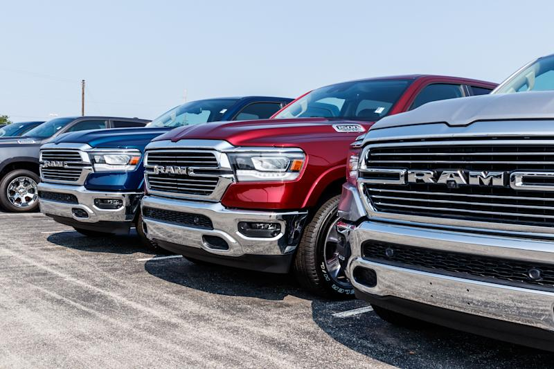 Noblesville - Circa August 2018: Ram 1500 Pickup Trucks at a Dodge dealership. The Ram 1500 Pickup is consistently a top selling truck in the U.S. IV