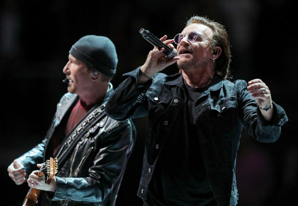 U2 perform at the O2 Arena in London: PA