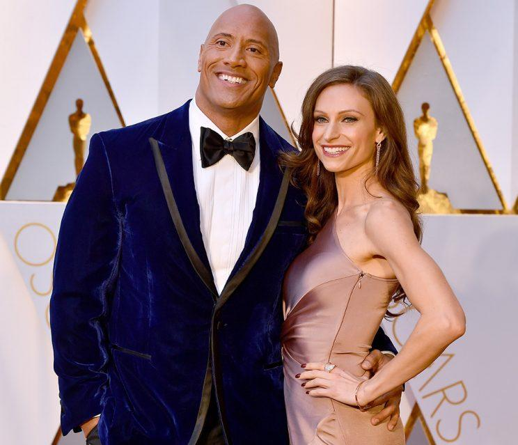 Dwayne Johnson, and Lauren Hashian attend the 89th Annual Academy Awards
