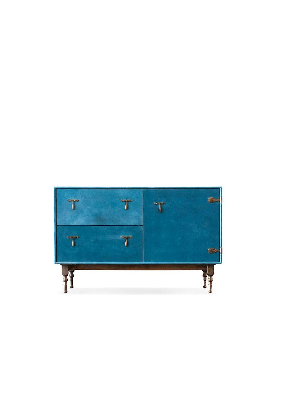 """<p> This is beautifully made, and though it stains easily, those stains look good. If I could afford to, I would buy everything from BDDW.</p><p><a class=""""link rapid-noclick-resp"""" href=""""https://bddw.com/furniture/storage/leather_credenza"""" rel=""""nofollow noopener"""" target=""""_blank"""" data-ylk=""""slk:BUY NOW"""">BUY NOW</a></p>"""