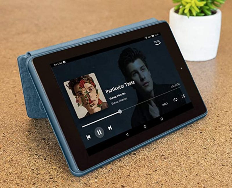 Stand it up for watching a show or playing tunes. (Photo: Amazon)