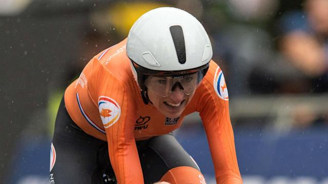 She made the break with around two-thirds of the race still to go but there was no catching flying Dutchwoman Annemiek van Vleuten.
