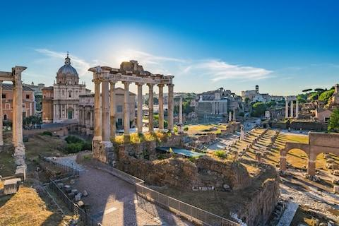 <span>Rome: lovely place for a marathon</span> <span>Credit: Noppasin Wongchum </span>