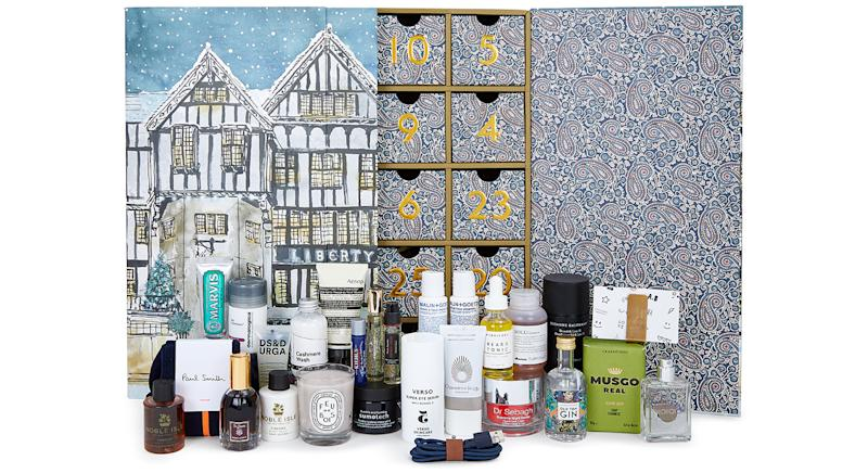 The 2019 edition of the Liberty London beauty advent calendar launches at midnight [Photo: Getty]