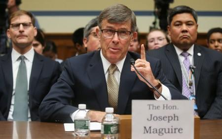 Acting Director of National Intelligence Maguire testifies before House Intelligence Committee hearing on handling of whistleblower complaint on Capitol Hill in Washington