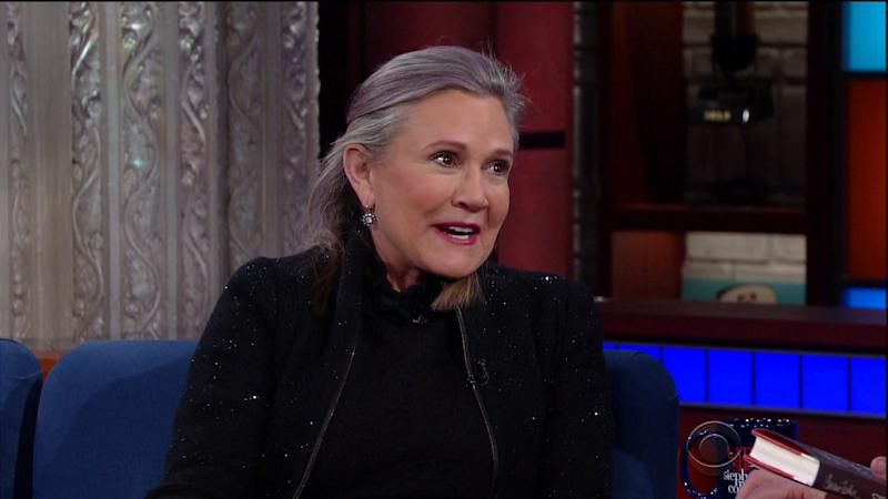 Carrie Fisher in her last TV interview on The Late Show (credit: CBS/WENN)