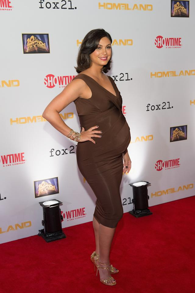 "WASHINGTON, DC - SEPTEMBER 09: Morena Baccarin attends a premiere screening hosted by SHOWTIME and Fox 21 for Season 3 of the hit series ""Homeland"" at Corcoran Gallery of Art on September 9, 2013 in Washington City. (Photo by Daniel Boczarski/Getty Images for Showtime)"