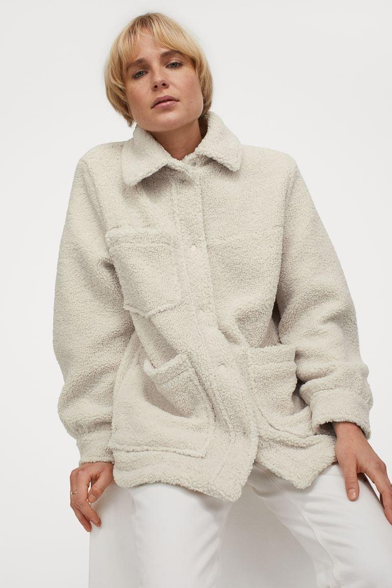 <p>This <span>Faux Shearling Jacket</span> ($60) has you covered for your quick outings.</p>