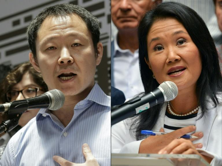 Some believe both Kenji Fujimori (L) and his sister Keiko are eyeing a run for Peru's presidency in 2021