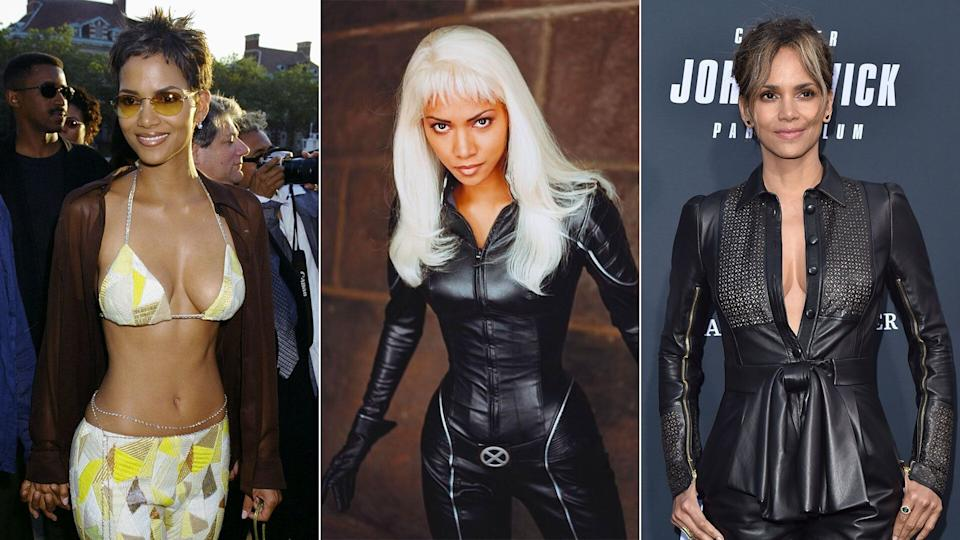 Halle Berry - Storm - at the <i>X-Men</i> premiere at Ellis Island (L), and (R) at a special screening of Lionsgate's <i>John Wick: Chapter 3 - Parabellum</i>, 2019.