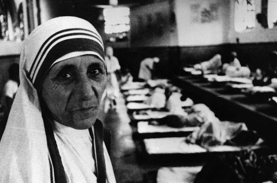 <p>Known to many as the saint of the 90s and for her work with fatally ill patients, Mother Teresa passed away in September of 1997. Her work and image were highly used in the 90s and shortly after her passing, was honored as a saint by the Catholic church. </p>